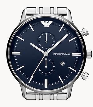 Emporio Armani Men's Two-Hand Stainless Steel Watch