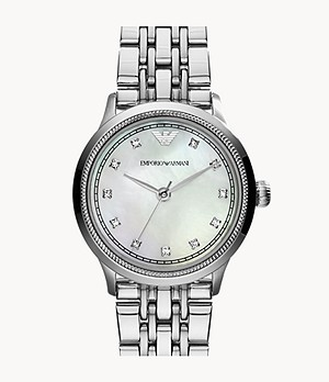 Emporio Armani Women's Three-Hand Steel Watch
