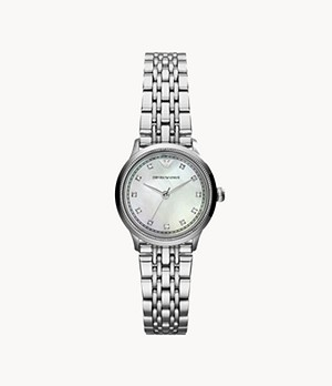 Emporio Armani Women's Three-Hand Stainless Steel Watch