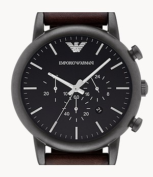 Emporio Armani Men's Chronograph Silver-Tone Stainless Steel Watch