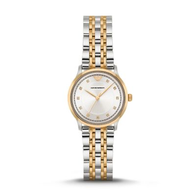 Emporio Armani Women's Three-Hand Two-Tone Stainless Steel Watch - AR1963 - Watch Station