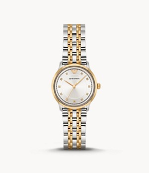 Emporio Armani Women's Three-Hand Two-Tone Stainless Steel Watch