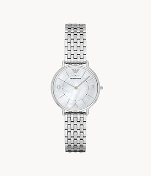 Emporio Armani Women's Two-Hand Steel Watch