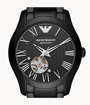 Emporio Armani Automatic Black Stainless Steel Watch