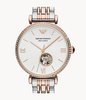 Emporio Armani Three-Hand Two-Tone Stainless Steel Watch