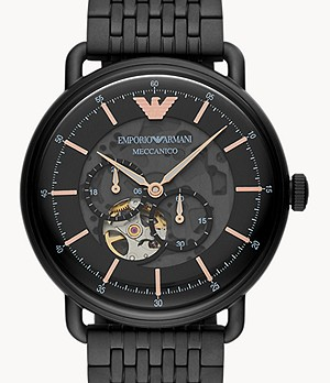 Emporio Armani Multifunction Black Stainless Steel Watch