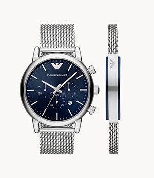 Emporio Armani Watch and Bracelet Gift Set