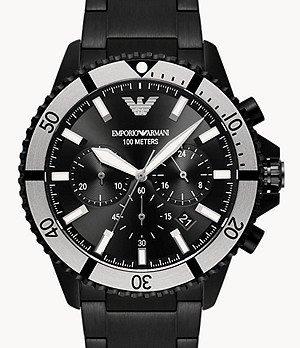 Emporio Armani Chronograph Watch and Interchangeable Strap Set