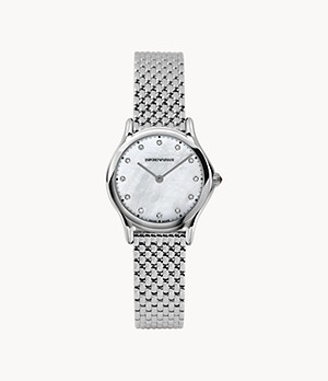 Emporio Armani Swiss Women's Two-Hand Steel Watch