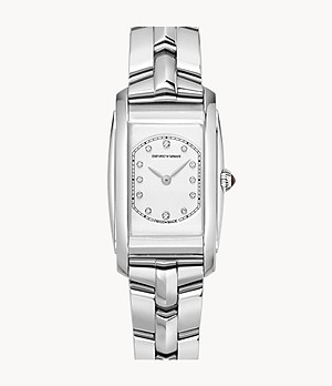 Emporio Armani Swiss Two-Hand Stainless Steel Watch