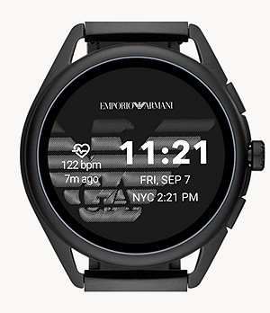 Emporio Armani Smartwatch 3 - Black Stainless Steel