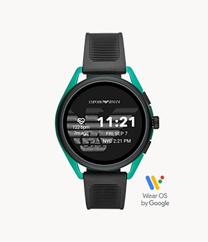 Emporio Armani Smartwatch 3 - Black EPDM Synthetic Rubber