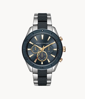 Armani Exchange Chronograph Two-Tone Stainless Steel Watch