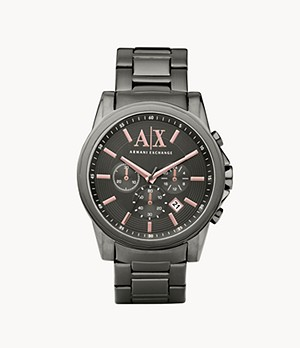Armani Exchange Chronograph Grey Stainless Steel Watch