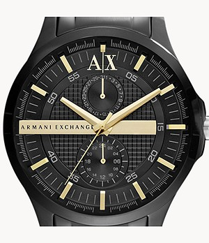 Armani Exchange Multifunction Black Stainless Steel Watch
