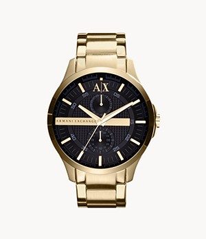 Armani Exchange Multifunction Gold-Tone Steel Watch