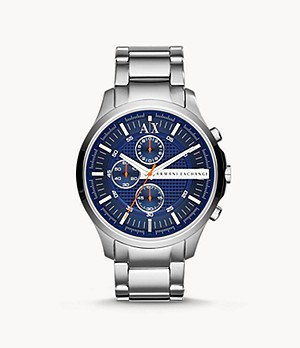 Montre chronographe en acier inoxydable Armani Exchange