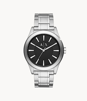 Armani Exchange Three-Hand Steel Watch