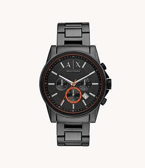 Montre chronographe en acier inoxydable bronze industriel Armani Exchange