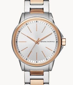 Armani Exchange Three-Hand Two-Tone Stainless Steel Watch