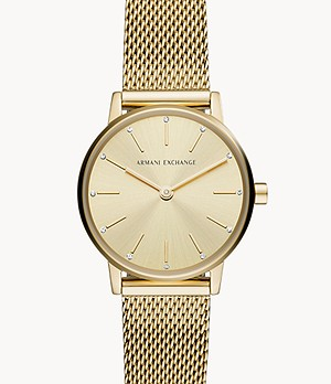 Armani Exchange Two-Hand Gold-Tone Stainless Steel Watch
