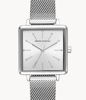 Armani Exchange Three-Hand Stainless Steel Watch