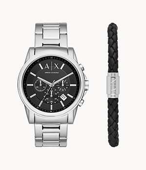 Armani Exchange Watch and Bracelet Gift Set