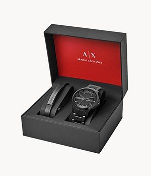 Armani Exchange Men's Watch + Bracelet Gift Set