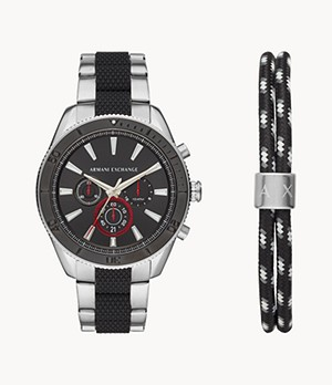 Armani Exchange Chronograph Two-Tone Steel Watch