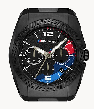 BMW M Motorsport Chronograph Black Stainless Steel Watch