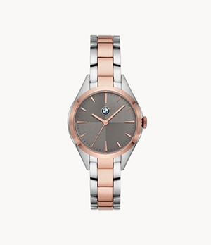 BMW Women's Three-Hand Two-Tone Stainless Steel Watch