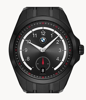 BMW Three-Hand Black Stainless Steel Watch