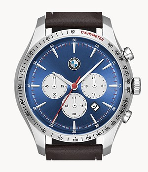 BMW Men's Chronograph Brown Leather Watch