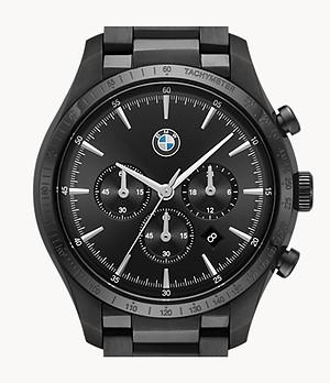 BMW Men's Chronograph Black Stainless Steel Watch