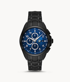 BMW Chronograph Black Stainless Steel Watch