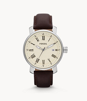 Rhett Three-Hand Brown Leather Watch