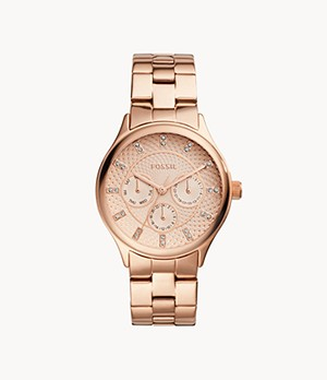 Modern Sophisticate Multifunction Rose Gold-Tone Stainless Steel Watch