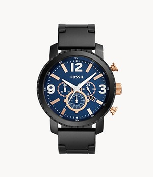 Gage Chronograph Black Stainless Steel Watch