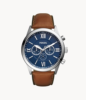 Flynn Chronograph Brown Leather Watch