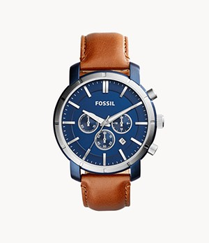 Lance Chronograph Brown Leather Watch