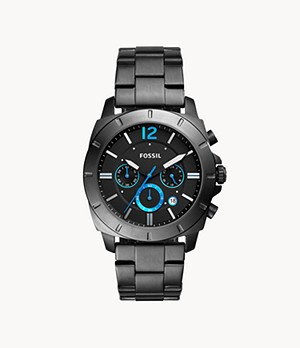 Montre Privateer Sport chronographe en acier inoxydable anthracite