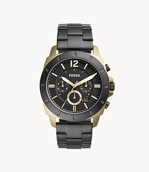 Privateer Sport Chronograph Black Stainless Steel Watch