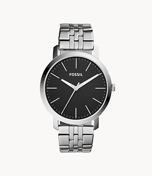 Luther Three-Hand Stainless Steel Watch