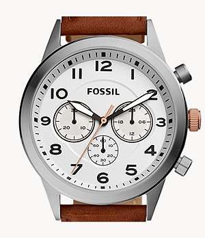 Flynn Pilot Chronograph Brown Leather Watch