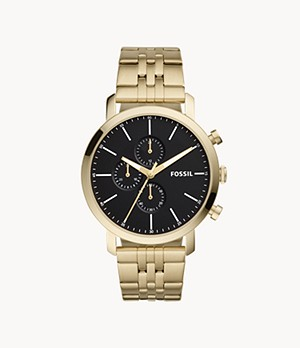 Luther Chronograph Gold-Tone Stainless Steel Watch