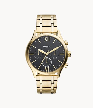Fenmore Midsize Multifunction Gold-Tone Stainless Steel Watch