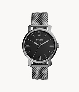 Rhett Three-Hand Smoke Stainless Steel Watch