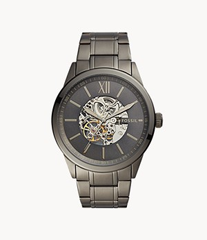 48mm Flynn Automatic Gunmetal Stainless Steel Watch