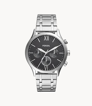 Fenmore Midsize Multifunction Stainless Steel Watch