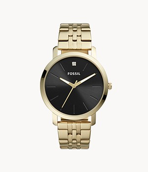 Lux Luther Three-Hand Gold-Tone Stainless Steel Watch